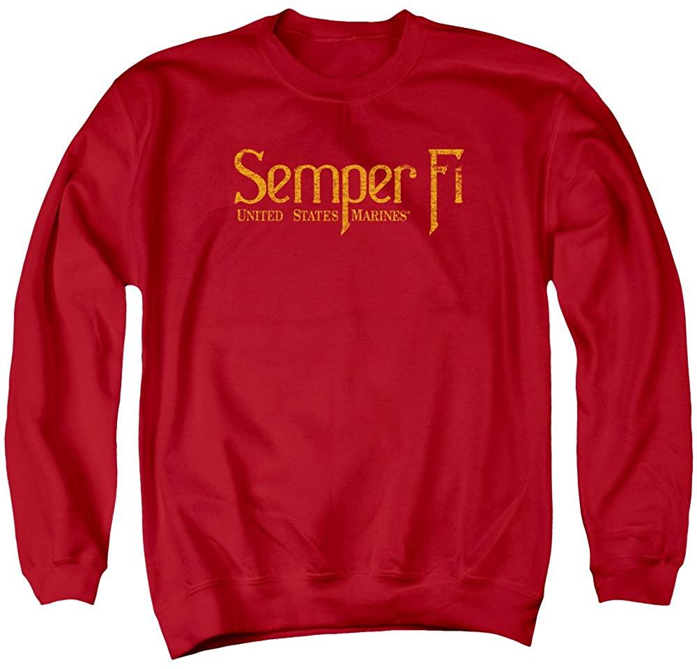 US Marine Corps USMC Semper Fi Red Adult Pullover Sweatshirt