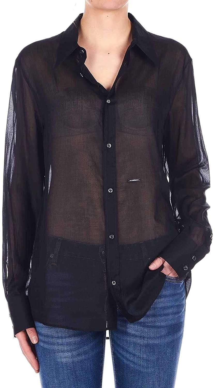 DSQUARED2 Luxury Fashion Woman S75DL0693S4942701900 Black Cotton Shirt | Spring Summer 20