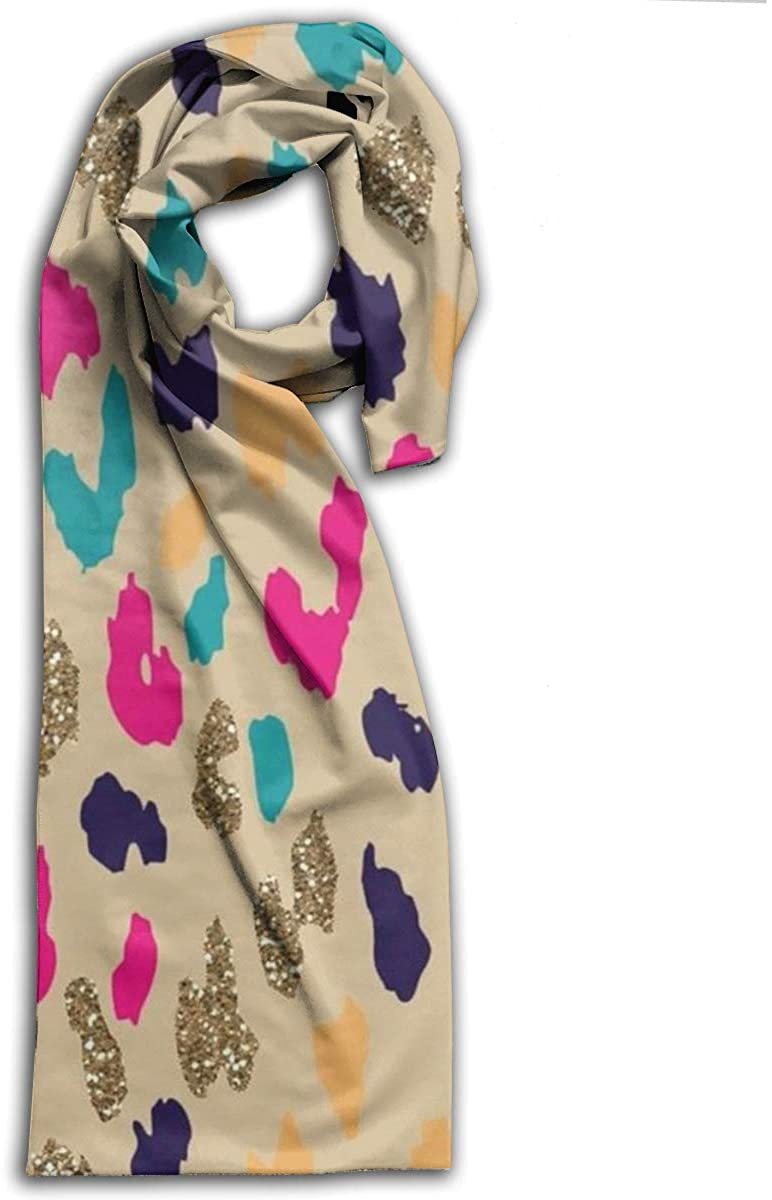 Adult Scarf,Pink Cheetah Wraps Beautiful Shawls Soft Scarves For Men And Women