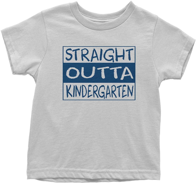 Expression Tees Straight Outta Kindergarten (Blue Design) Toddler T-Shirt
