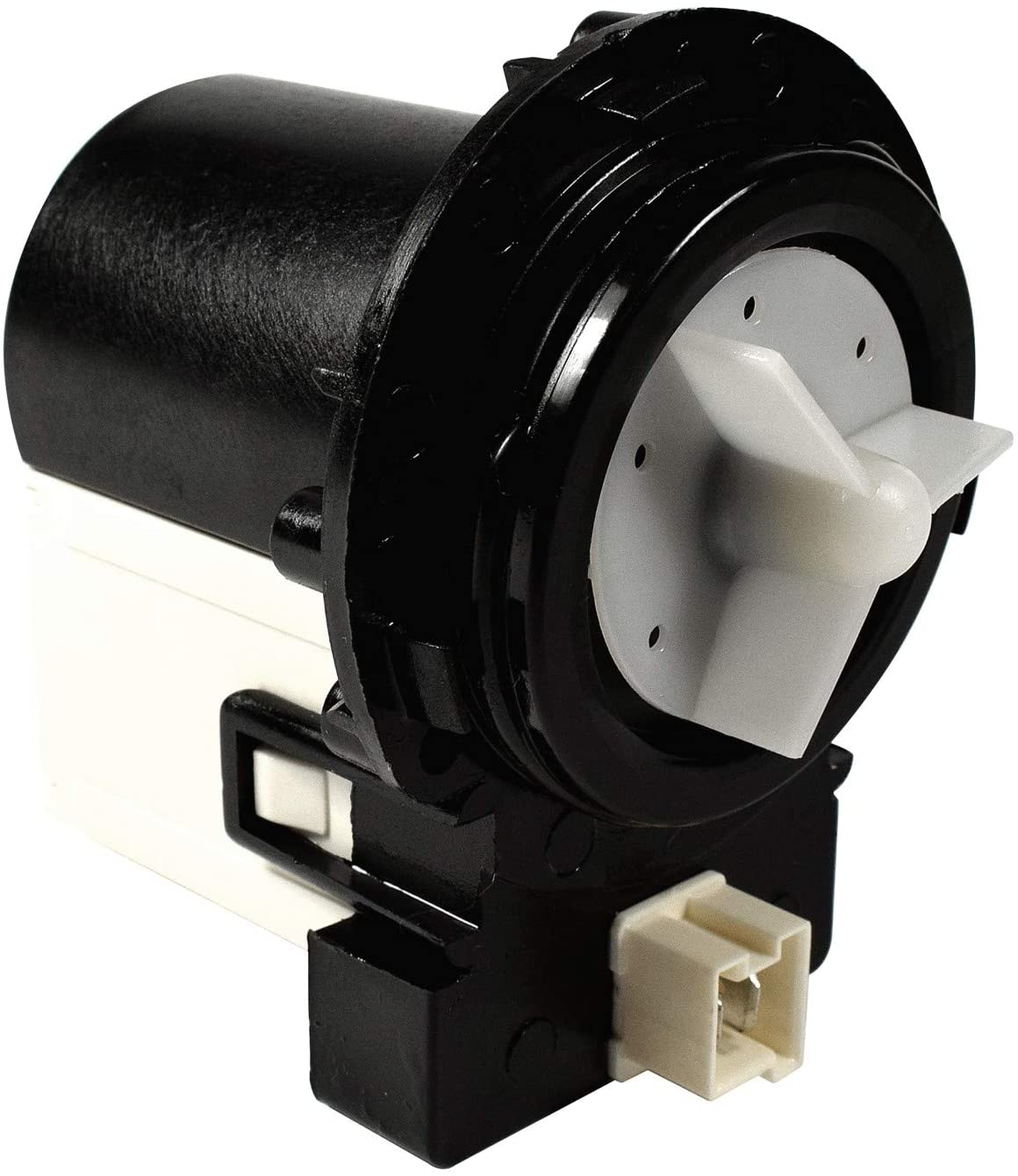 HQRP Washer Drain Pump compatible with Samsung DC31-00054A DC31-00016A Replacement fits WF203ANS WF316LAS WF328AAR WF337AAL WF409SNL WF448AAE WF520ABP WMSVC1 Washing Machines
