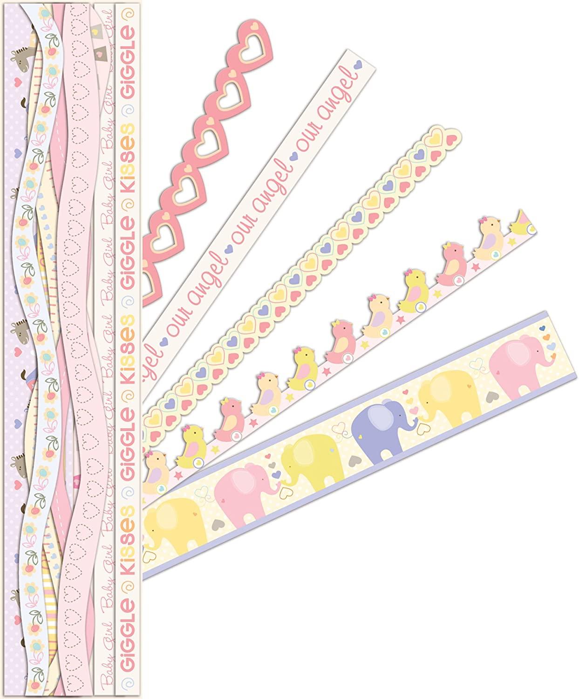 K&Company Itsy Bitsy Baby Girl Adhesive Borders
