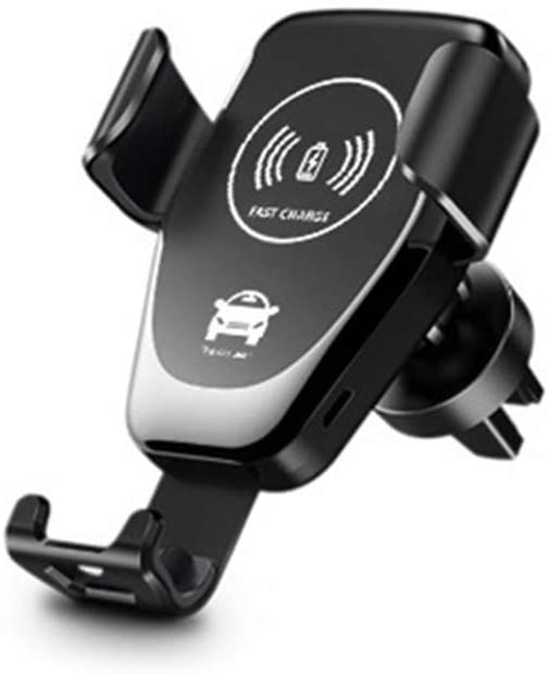 HUATINGRHEL Wireless Car Charger Mount, Fast Charging Wireless Charger Car Phone Holder Auto Gravity Clamping, Black