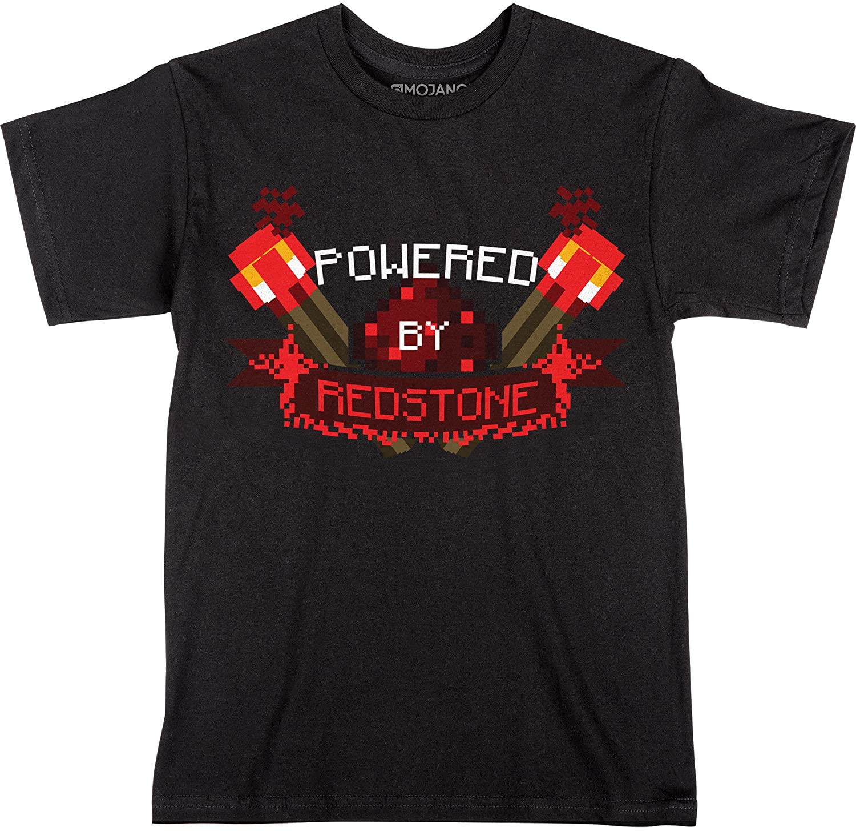 JINX Minecraft Powered by Redstone Boys' Tee Shirt