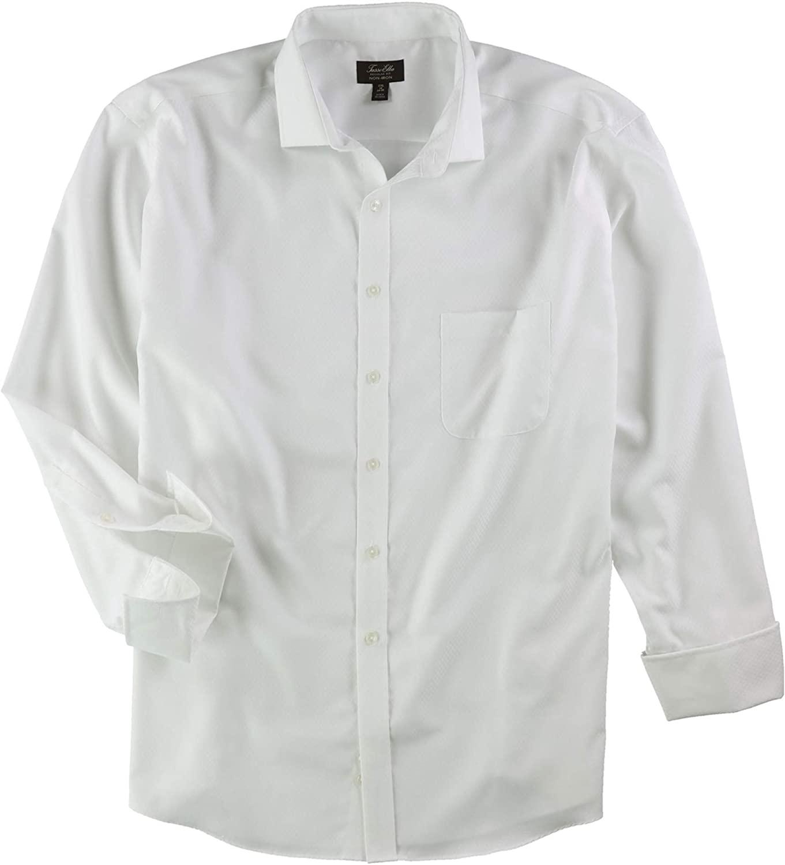 Tasso Elba Mens Double Diamond Button Up Dress Shirt