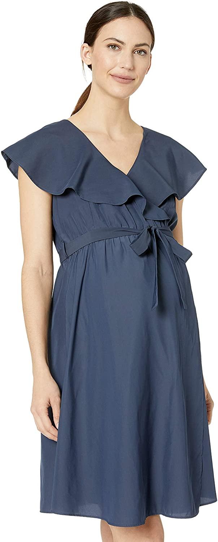 Ripe Women's Maternity Frill Wrap Nursing Dress