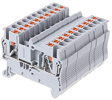 Davitu Terminals - 10pcs PT 2.5 Push-In Din Rail Mounted Terminal Blocks Spring Screwless Feed Electrical ComponentsAndParts Wholesale