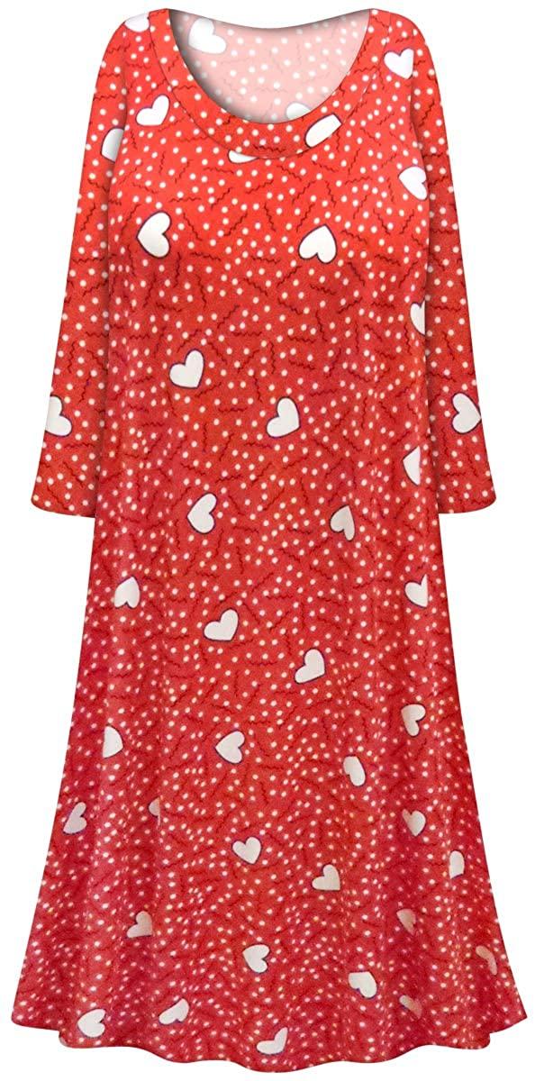 Sanctuarie Designs Plus Size Nightgown Soft Brushed Hearts Print