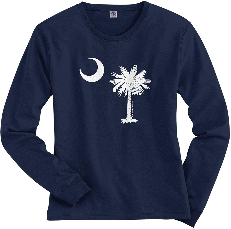 Threadrock Women's South Carolina Flag Design Long Sleeve T-Shirt