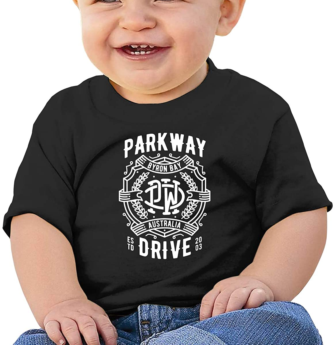 Parkway Drive Comfortable and Breathable Skin-Friendly Baby Short-Sleeved T-Shirt Black