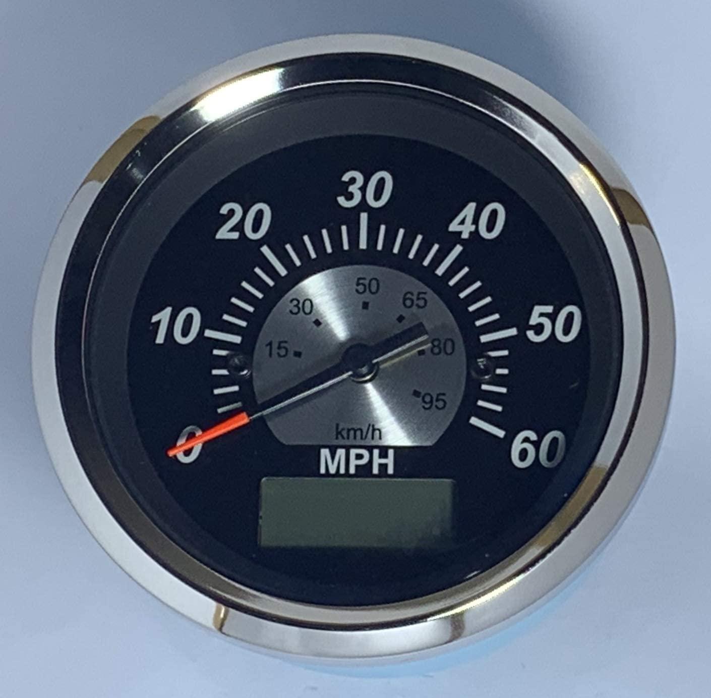GPS Speedometer 60 MPH (Black Sterling) with GPS Speed sensor