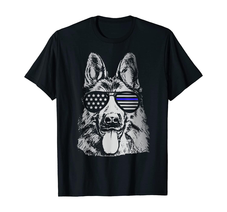 K9 Police Officer Shirt Police Dog Thin Blue Line Gift