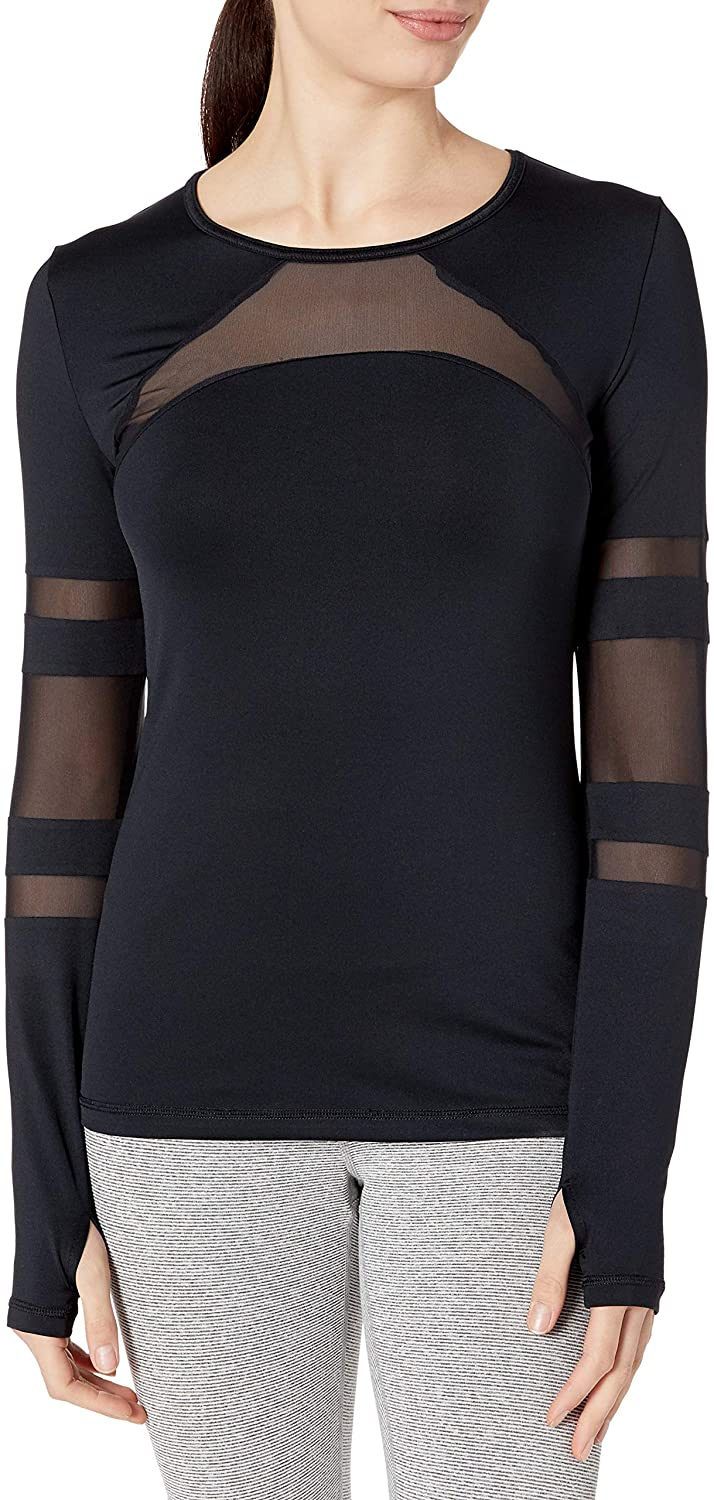 SHAPE activewear Women's Cage Mesh Long Sleeve Tee