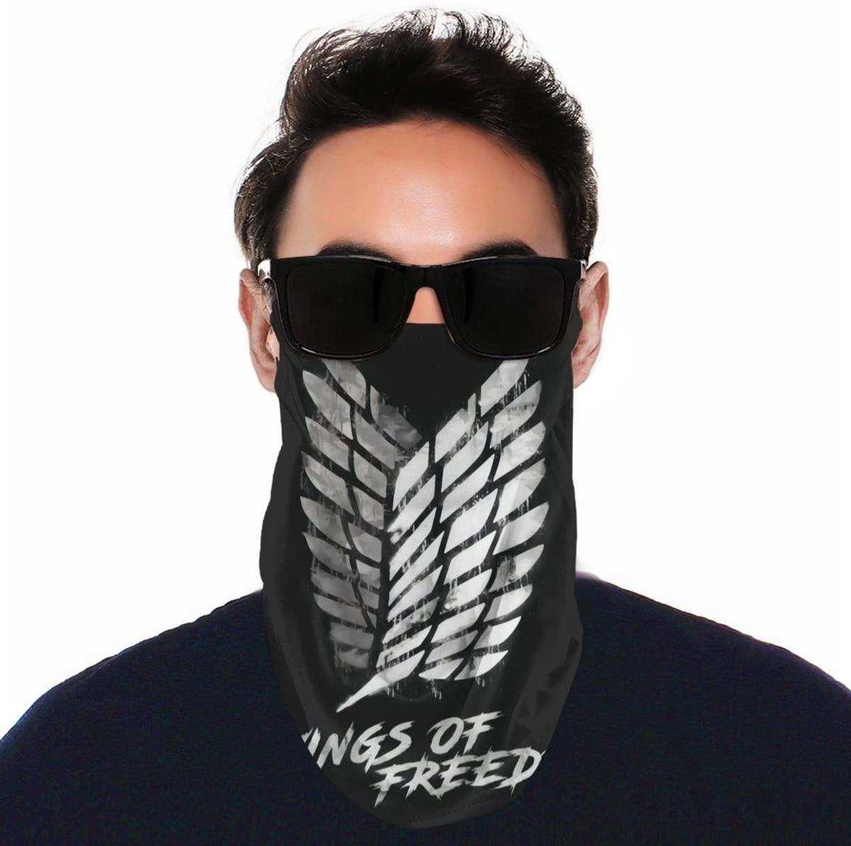 Attack on Titan Cycling Face Mask Motor Neck Gaiter Tube Scarf Balaclava Bandana