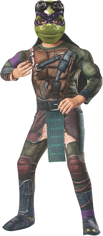 Rubies Teenage Mutant Ninja Turtles Deluxe Muscle-Chest Donatello Costume, Small
