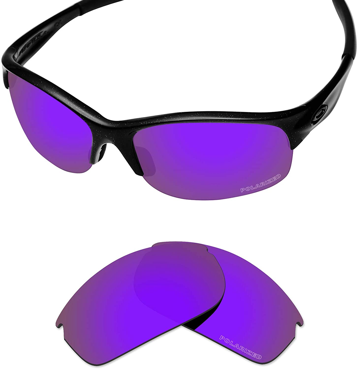 Tintart Performance Lenses Compatible with Oakley Commit SQ Polarized Etched-Plum Purple