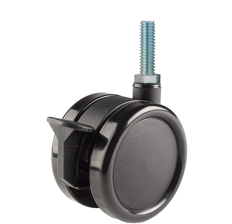 Twin Wheel Caster Solutions TWUN-75U-T17-BK-B 3