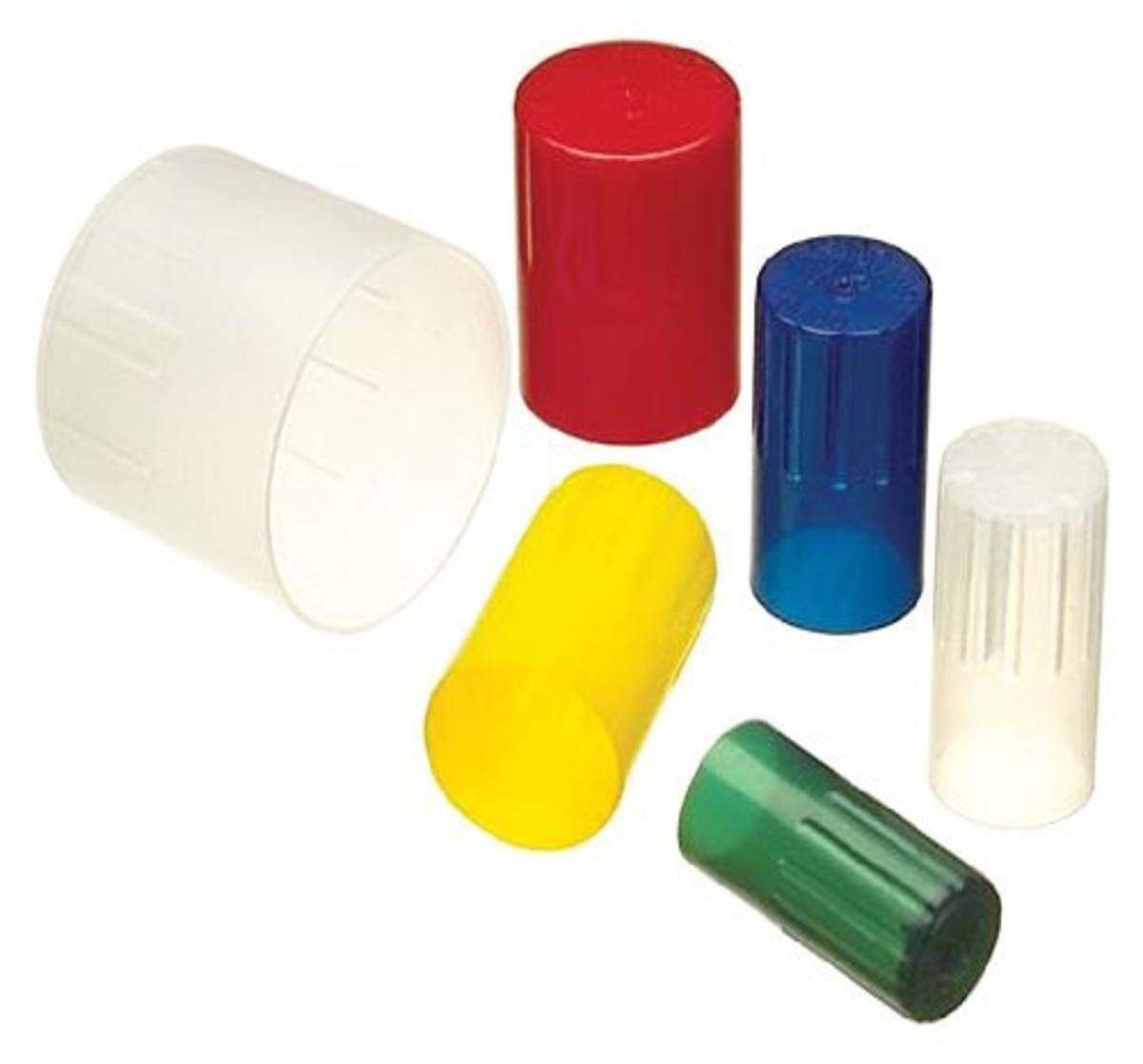 Kimble 73662-18 KIM-KAP Red Polypropylene Autoclavable Closures for 18mm Culture Tube (Case of 150)