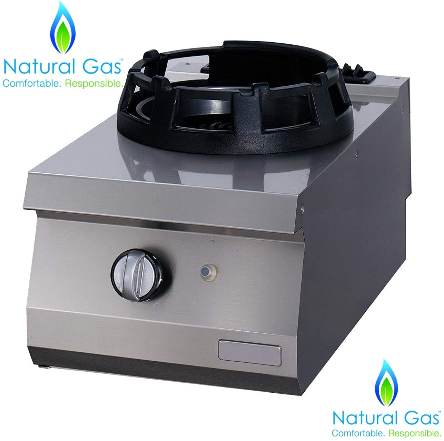 PROFESSIONAL Commercial Heavy Duty Countertop Single WOK Burner Station Range cooktop cast iron Stove works with NATURAL GAS