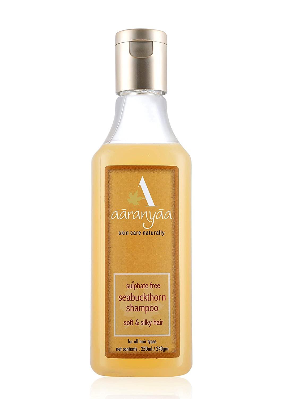 Aaranyaa Sulphate free Seabuckthorn shampoo with Amino Fruit and Extracts of Brahmi Ashwagandha Reetha Damage Protection (250 ml)