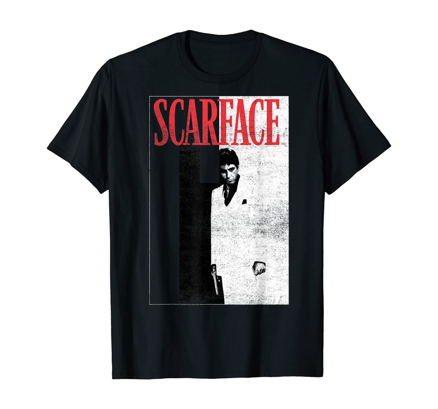 Scarface Distressed Movie Poster Photo T-Shirt
