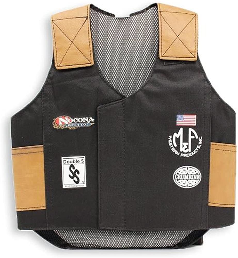 Bigtime Rodeo 5056401 Youth's Bull Rider Vest Black X-Large [Apparel]