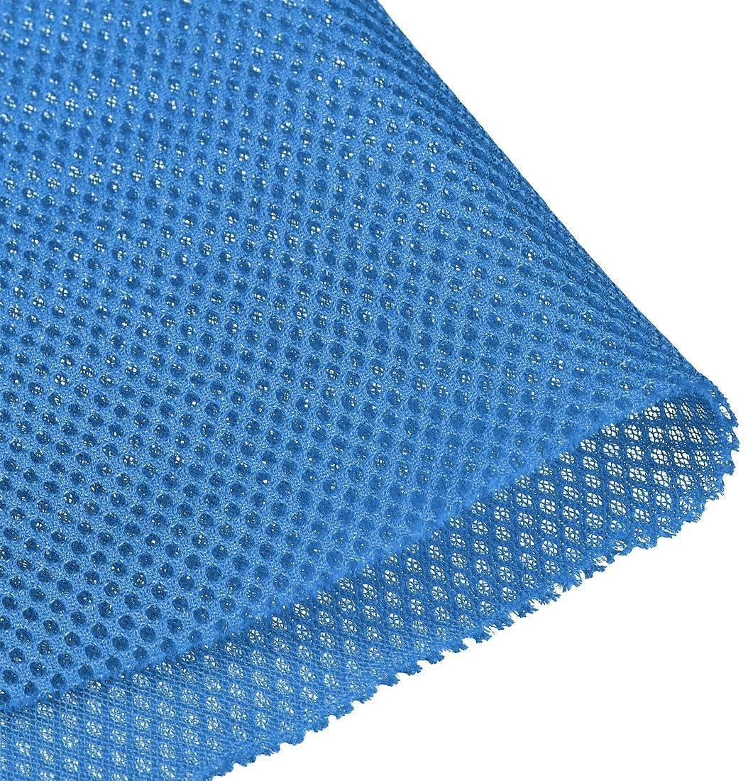uxcell Blue Speaker Mesh Grill Stereo Fabric Dustproof 0.5x1.45M 20 x 57 inch