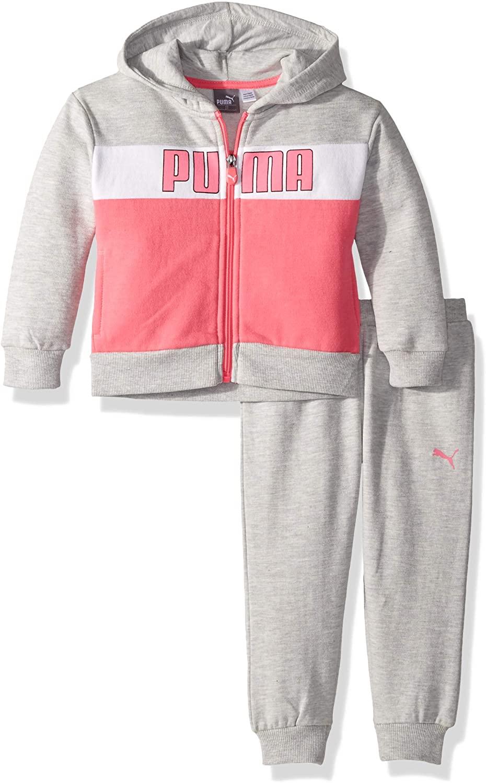 PUMA Baby Toddler Girls' Fleece Hoodie Set