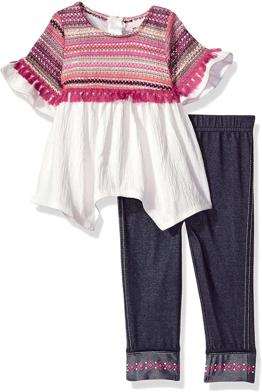 Little Lass Baby Girls' 2pc Novelty Crochet Knit Gauze Set