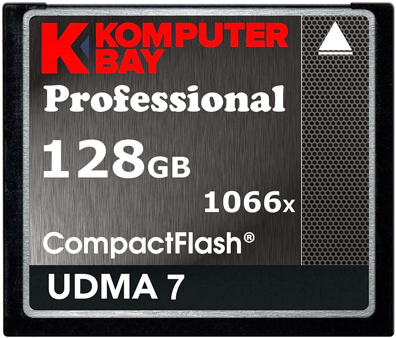 Komputerbay 128GB Professional Compact Flash Card 1066X CF Write 155MB/s Read 160MB/s Extreme Speed UDMA 7 RAW
