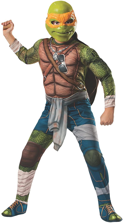Rubies Teenage Mutant Ninja Turtles Deluxe Muscle-Chest Michelangelo Costume, Small