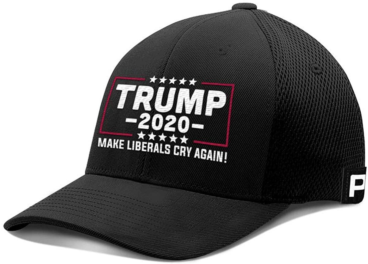 Printed Kicks Trump 2020 Hat Make Liberals Cry Again Flex Fit Baseball Cap