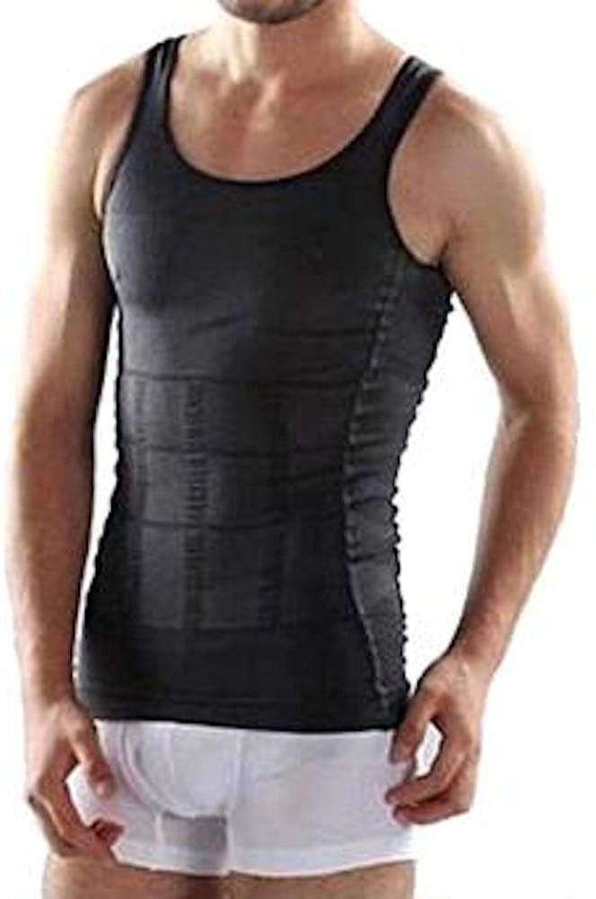 DWH Firm Fit Men Body Slimming Undershirt Body Shaper Vest Shirt