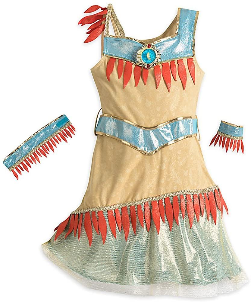 Disney Pocahontas Costume for Kids Size 7/8 Brown