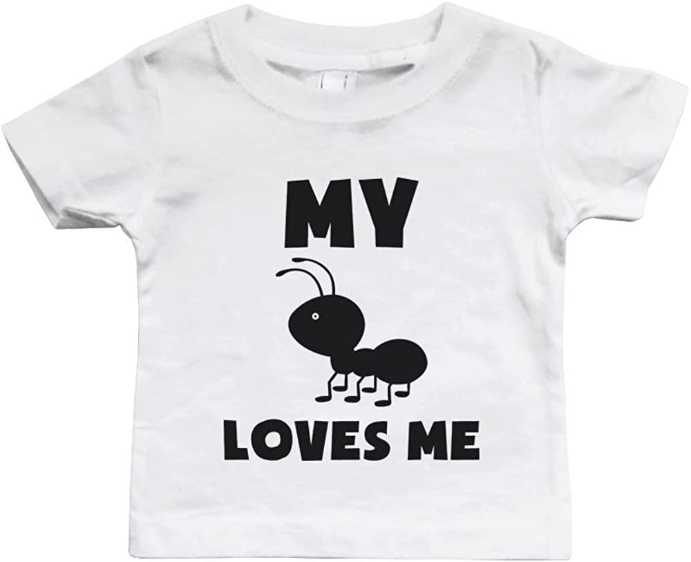 My Ant Loves Me Bodysuit Cute Infant White Bodysuit Gift for Baby Shower