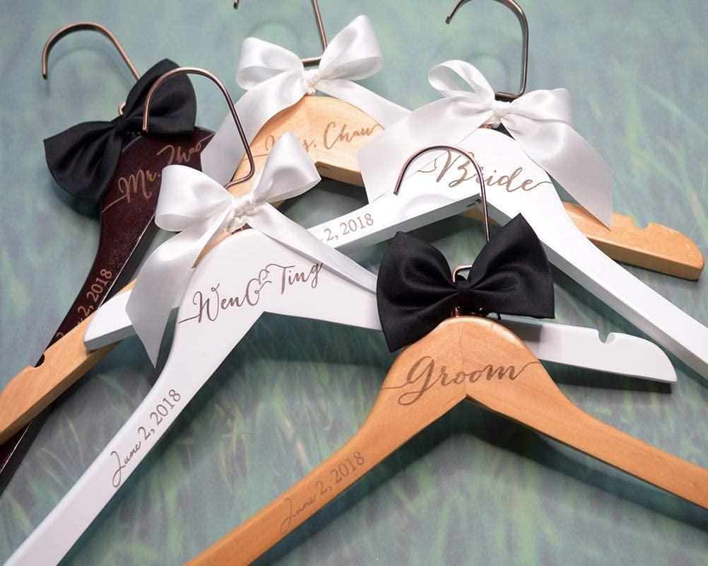 Encounter168 Engraved Wedding Hanger Bridal Hanger Dress Hanger Personalized Hanger Bridal Shower Gift Bridesmaid Dress Hanger Gift for Bridesmaids