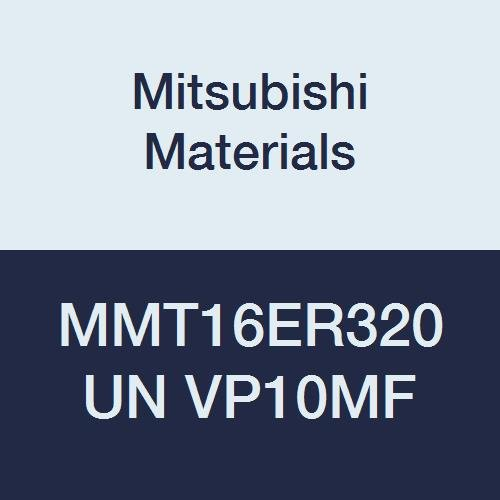 Mitsubishi Materials MMT16ER320UN VP10MF MMT Series Carbide G-Class External Ground Threading Insert, American UN Type, Right, Grade VP10MF, 3.2 mm Pitch, 9.525 mm IC (Pack of 5)