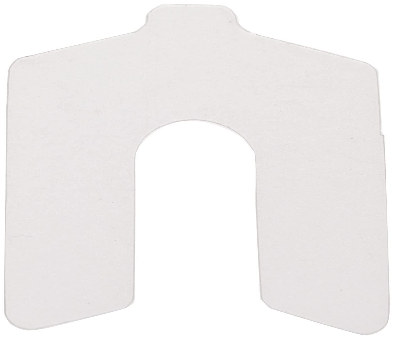 PVC (Polyvinyl Chloride) Slotted Shim, Matte, 0.0075