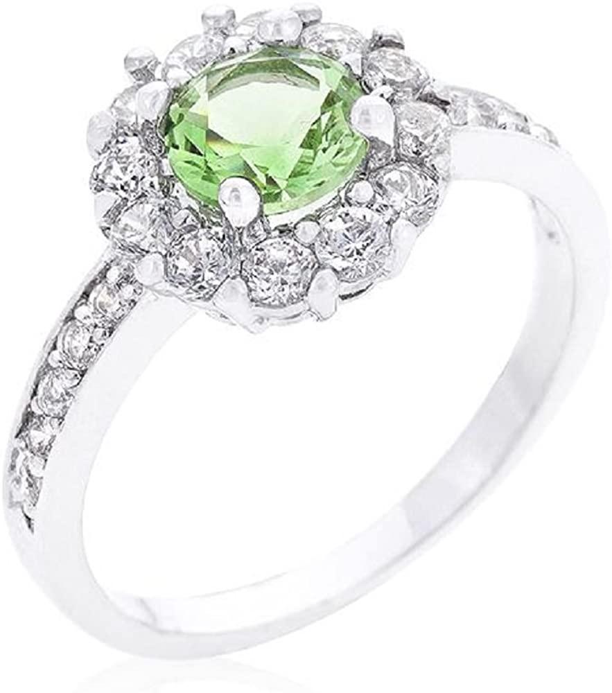 WildKlass Birthstone Engagement Ring in Green
