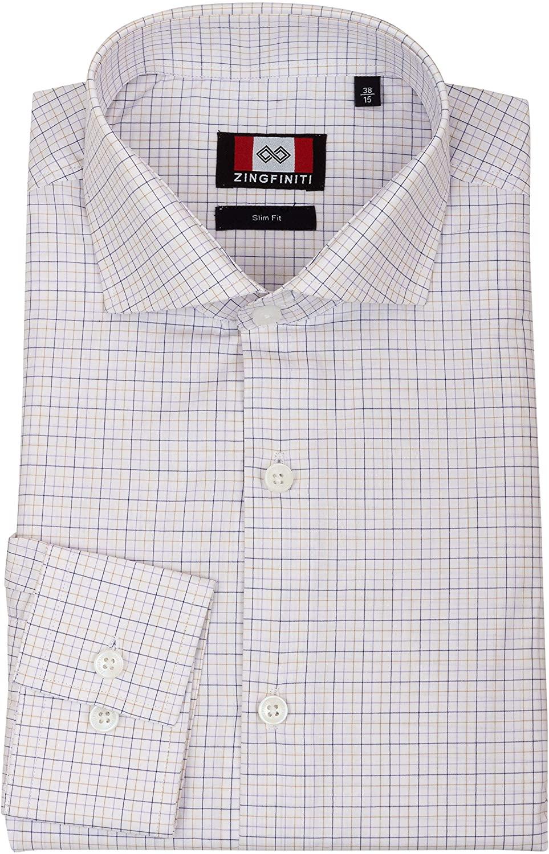 Zingfiniti Nye Cotton Men's Dress Shirt | Slim Fit