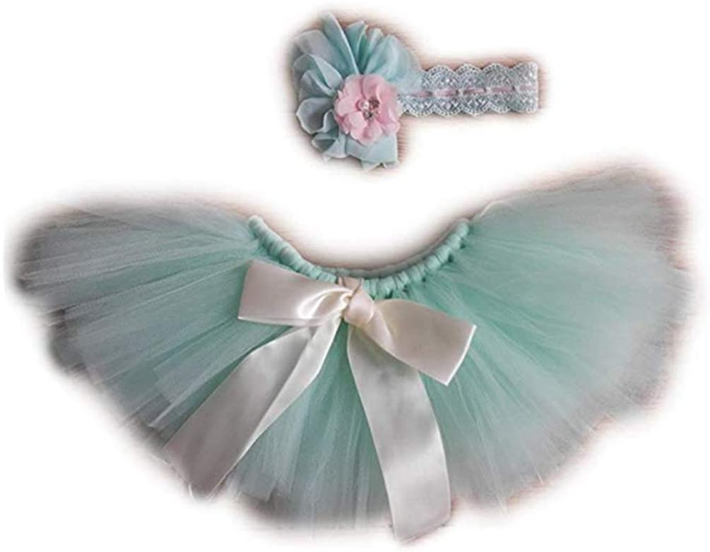 Newborn Monthly Baby Photo Shoot Outfits Lovely Girl 0-3 Months Photography Props Tutu Skirt Headband Costume