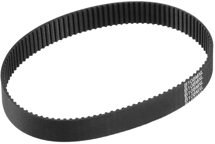 uxcell B108MXL Rubber Timing Belt Synchronous Closed Loop Belt Timing Pulley Tools 10mm Wide