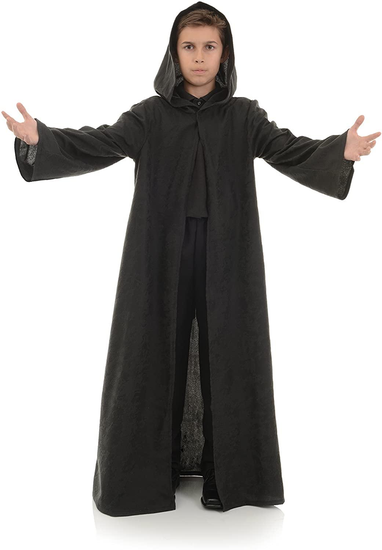 UNDERWRAPS Big Boys Childrens Cloak Costume Accessory, Black, Large Childrens Costume, Black, Large