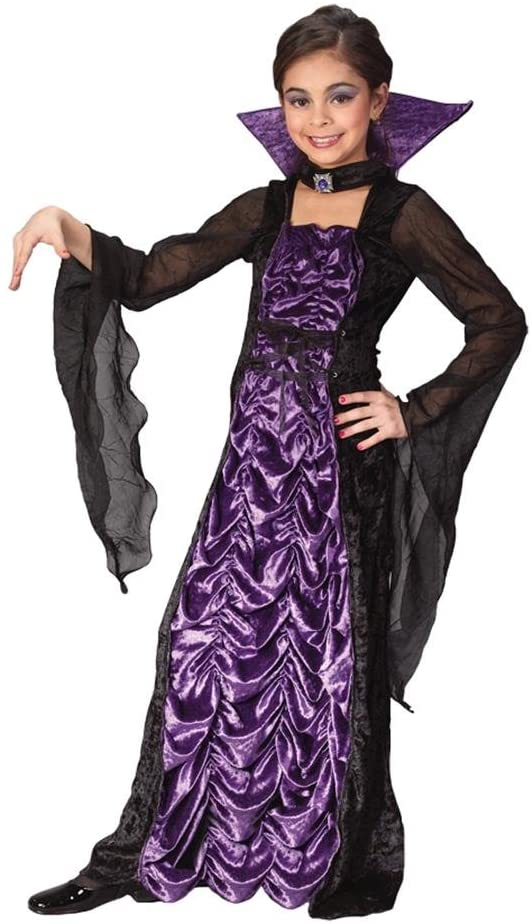 Fun World Purple Vampiress Costume, Medium 8 - 10, Purple