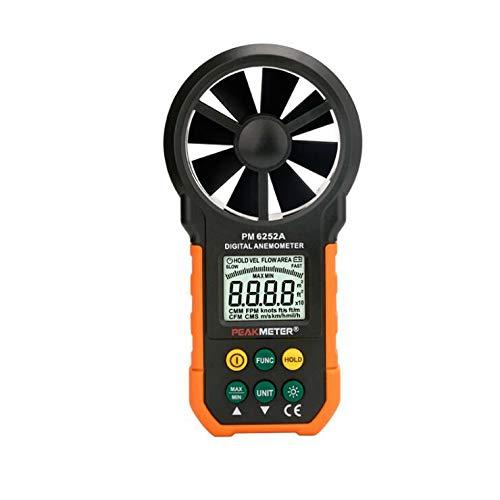PEAKMETER Wind Speed Test Meter Multi-Function Digital Anemometer Tachometer/Air Volume Air Flow Meters(PM6252A)