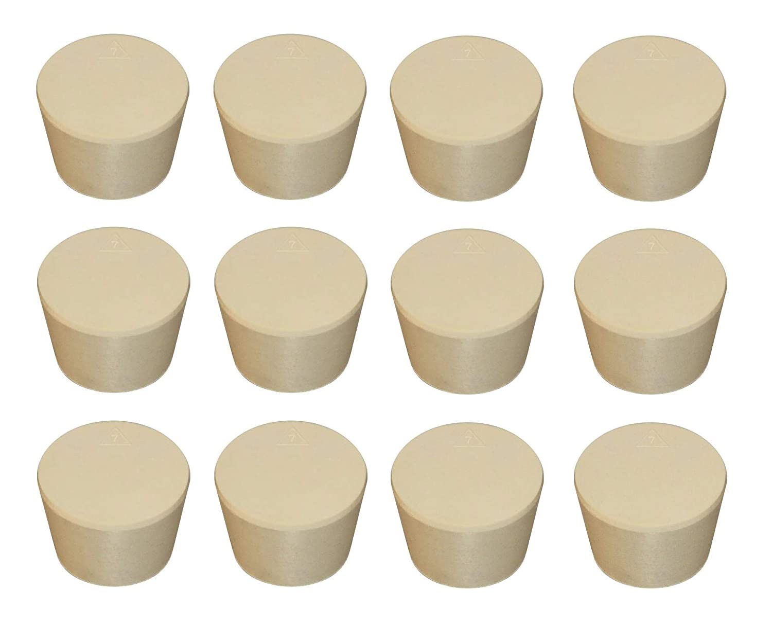 12 Pack #7 Solid Rubber STOPPERS Tapered Bung for Corking Home Brewing Glass Carboys