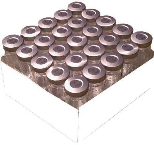 20ml Serum Injection Vials Rubber Stopper Silver Aluminum Seals 25 Pack