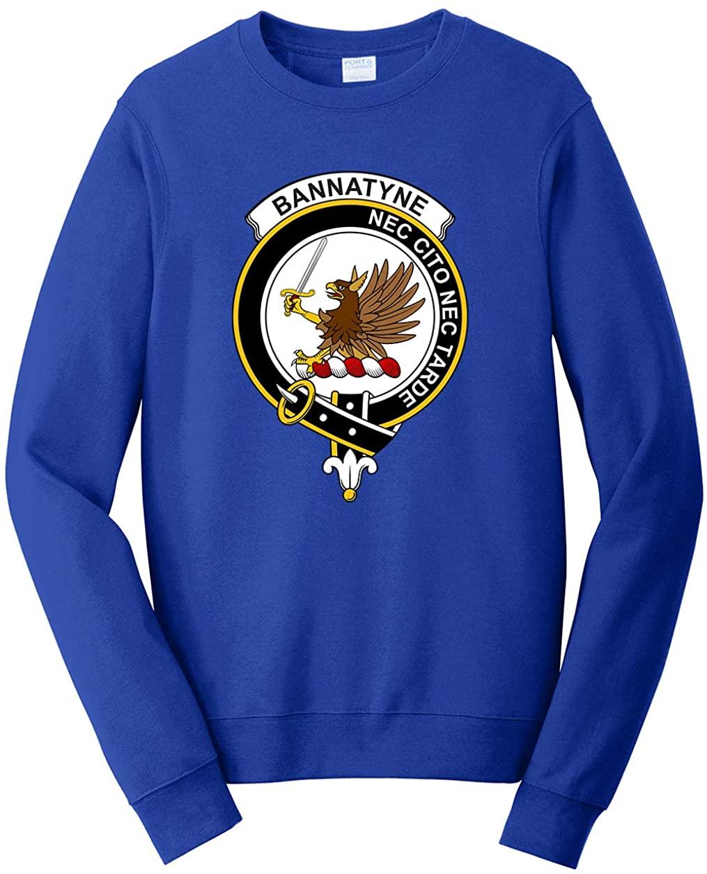 Tenacitee Unisex Scottish Clan Crest Badge Bannatyne Sweatshirt