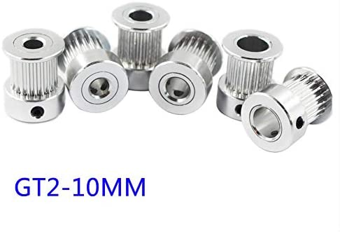 Nologo WYX-TONGBUDAI, 1pc Bore 5/6.35/8 Mm 2GT-20T 2GT-16T Synchronous Wheel Pulley Timing Nbelt Pulley Gt2 Synchronous Round Pulley Gear (Size : 20T 5mm bore)