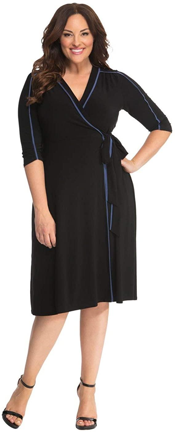 Kiyonna Womens Plus Size Harper Wrap Dress